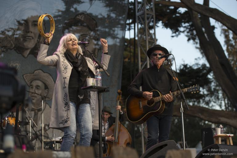 Emmylou Harris with Rodney Crowell at the Hardly Strictly Bluegrass Festival