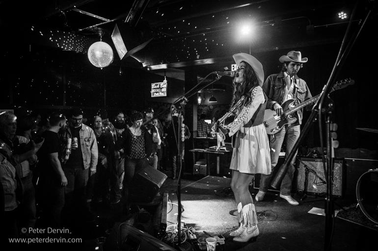 Whitney Rose with the Sam Outlaw Band at the Sunset Tavern.