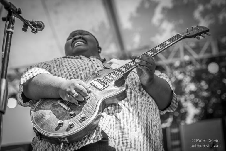 "Christone ""Kingfish"" Ingram at the Portland Waterfront Blues Festival"