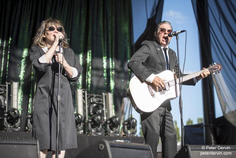 John Doe & Exene opening for Blondie/Garbage