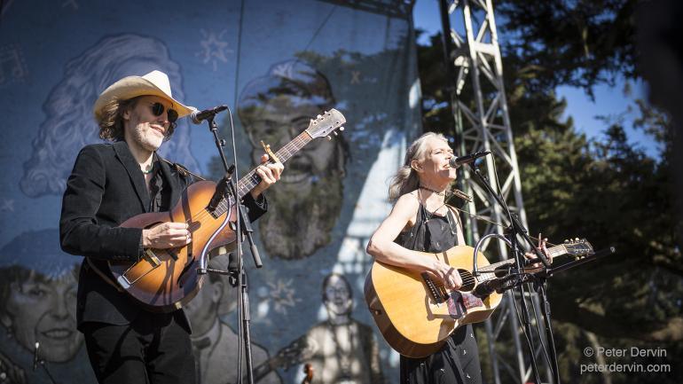 Gillian Welch with Dave Rawlings performing at Hardly Strictly Bluegrass