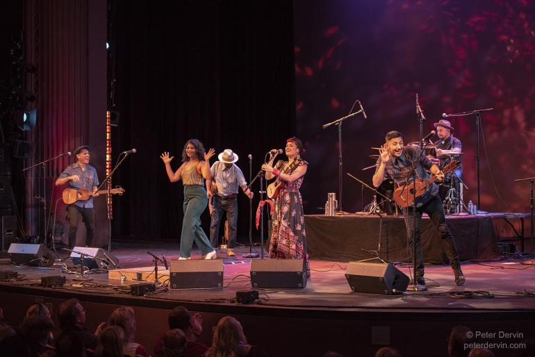 Las Cafeteras performing at Edmonds Center for the Arts