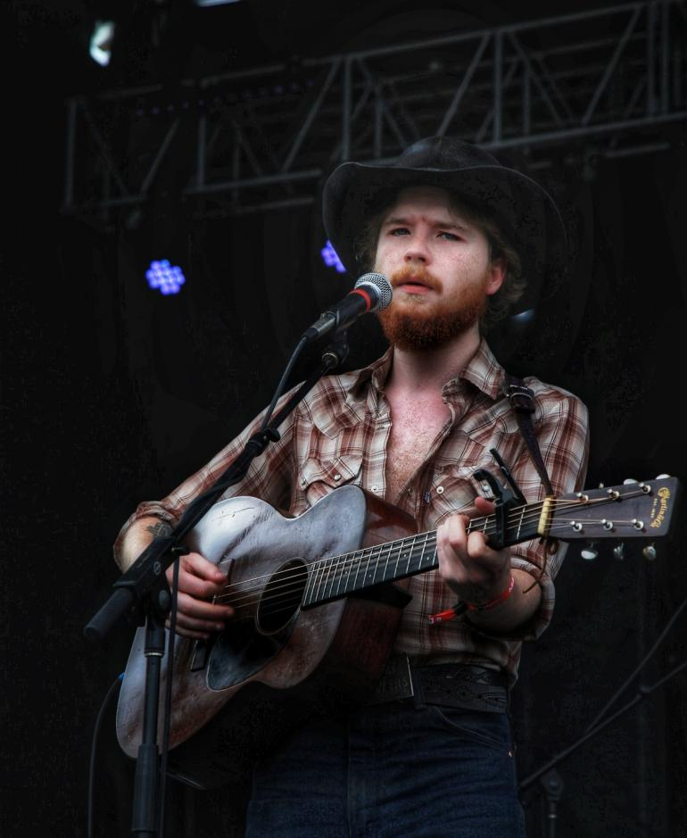 Colter Wall performs at Nelsonville Music Festival 2018