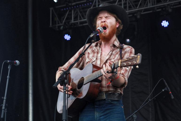 Colter Wall performs at Nelsonville Music Festival 2018.