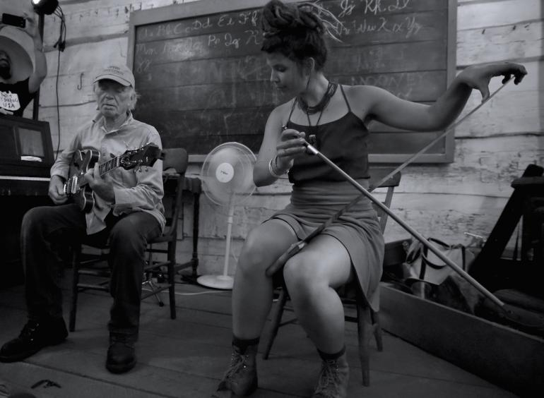 Michael Hurley and Tayloranne, Nelsonville Music Festival 2016
