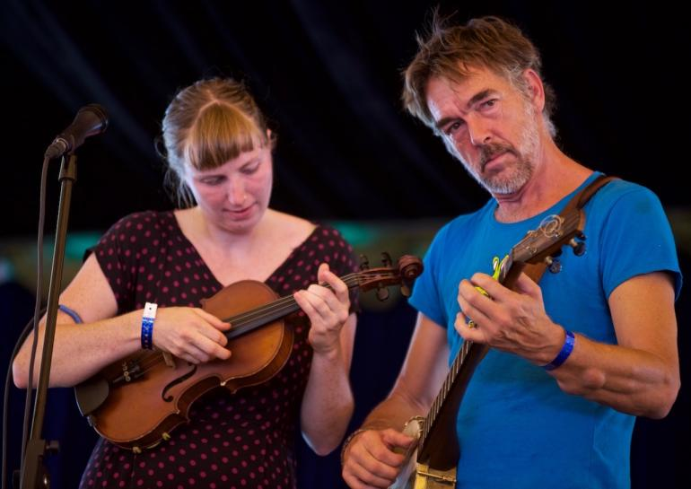 Richie Stearns and Rosie Newton,  Finger Lakes GrassRoots Festival