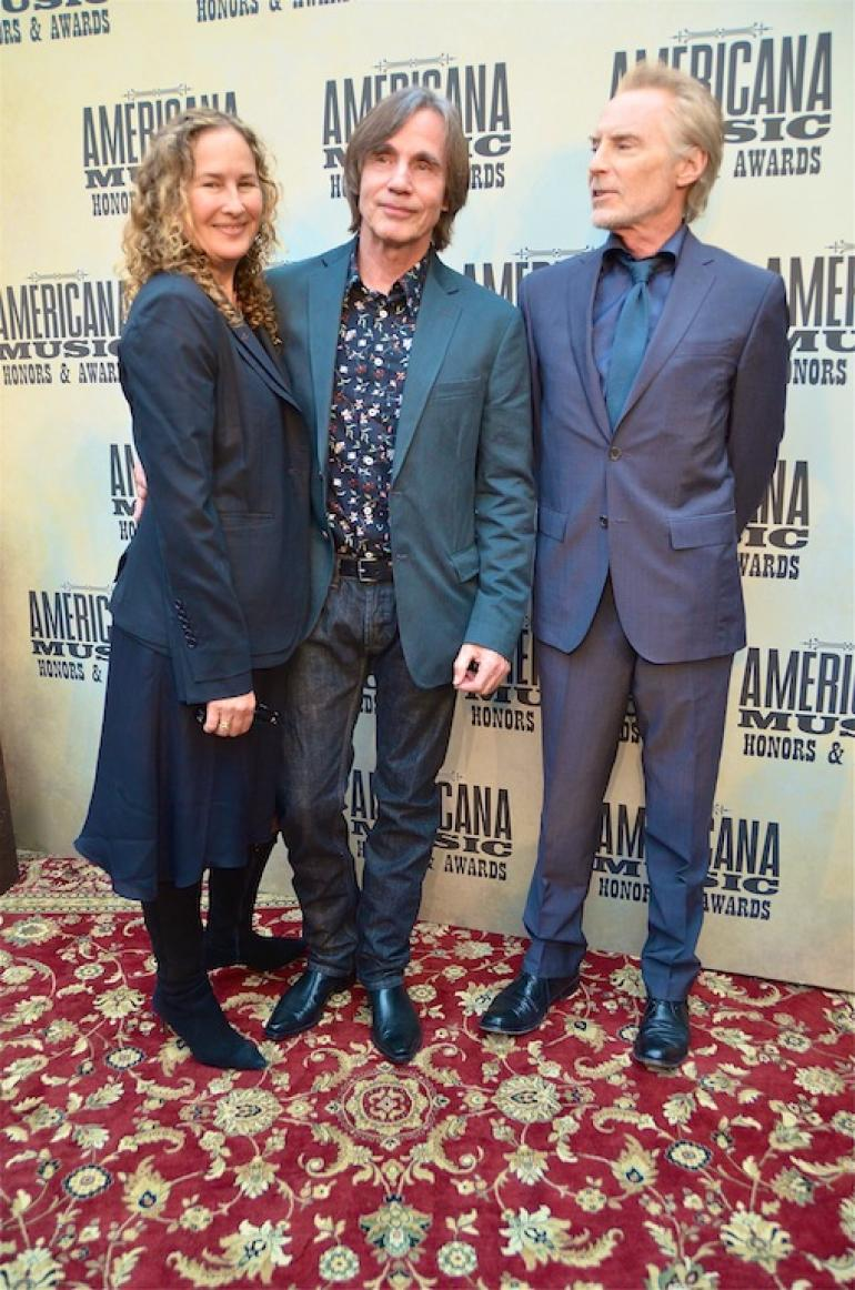 Jackson Browne and JD Souther, AMA Red Carpet, The Ryman, Nashville, September 17, 2014