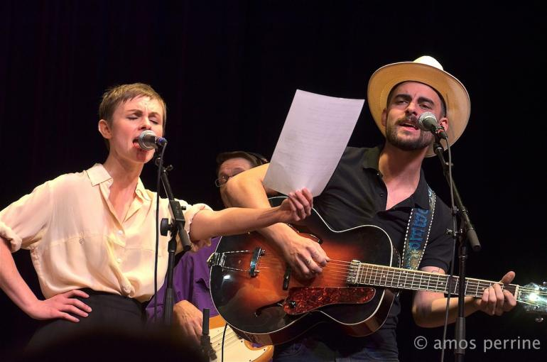 Kat Edmonson and Robert Ellis, Mountain Stage, Charleston, West Virginia, October 12, 2014