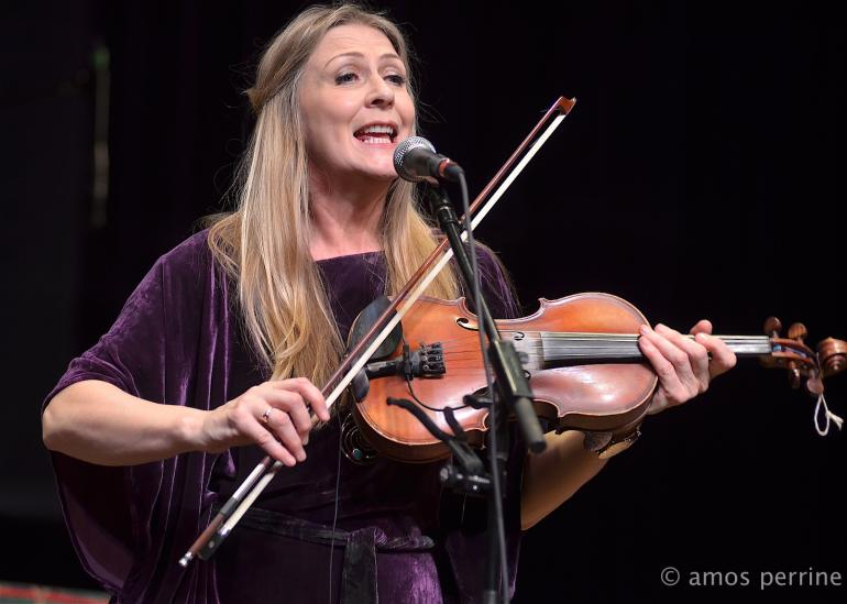 Mairead Ni Mhaonaigh of Altan, Mountain Stage,February 22, 2015