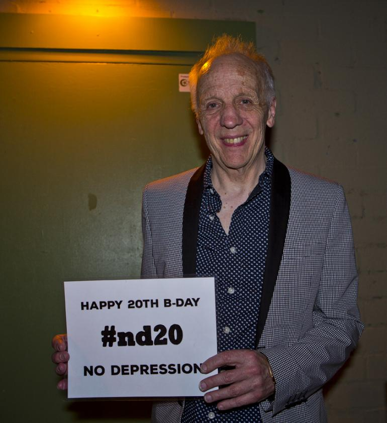 "Robin Trower says, ""Happy Birthday, No Depression!"""