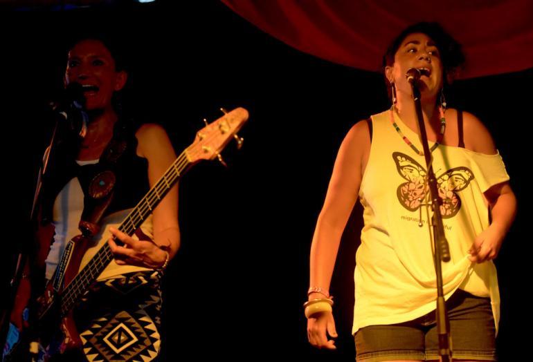 Jeneda Benally and Taini Asili, Cabaret,  Finger Lakes GrassRoots Festival 2017