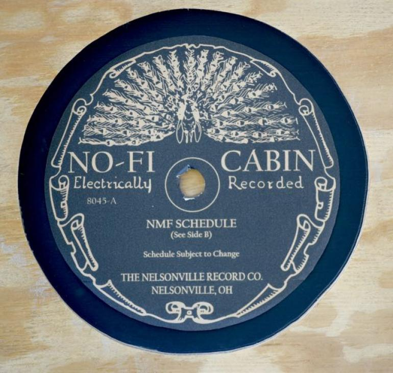 No-Fi Cabin Sign, Nelsonville Music Festival 2017