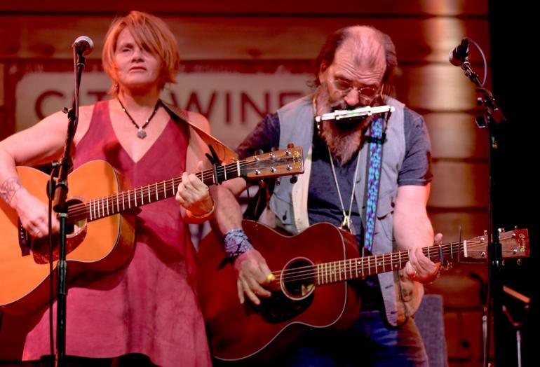 Shawn Colvin and Steve Earle at AmericanaFest 2016
