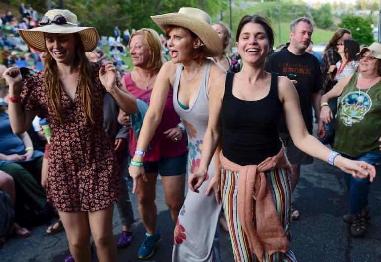 Dancers at the Hillside Stage, MerleFest 2018