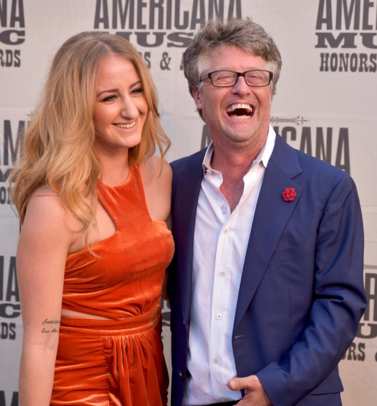 Margo Price and Jed Hilly on the Red Carpet at AmericanaFest 2016