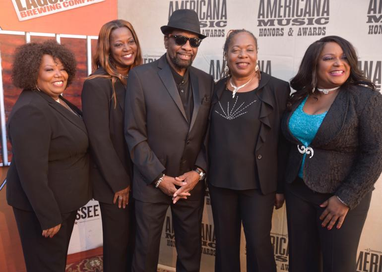 William Bell and The McCrary Sisters on the Red Carpet at AmericanaFest 2016