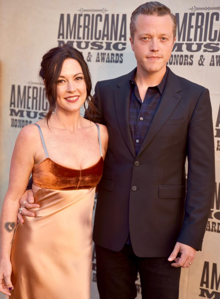 Jason and Amanda Shires Isbell on the Red Carpet at AmericanaFest 2016
