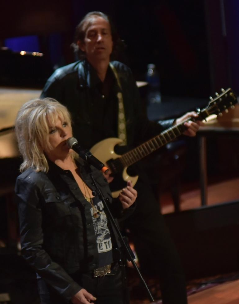 Lucinda Williams and Stuart Mathis,  AMA Awards, AmericanaFest 2016