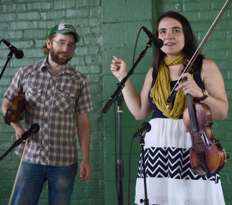 Emily Miller and Jesse Milnes, Augusta Heritage Festival 2017