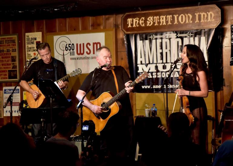 John Prine, Jason Isbell and Amanda Shires Isbell at AmericanaFest 2016