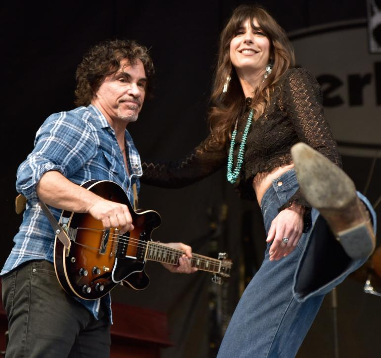 John Oates and Nicki Bluhm, MerleFest 2016