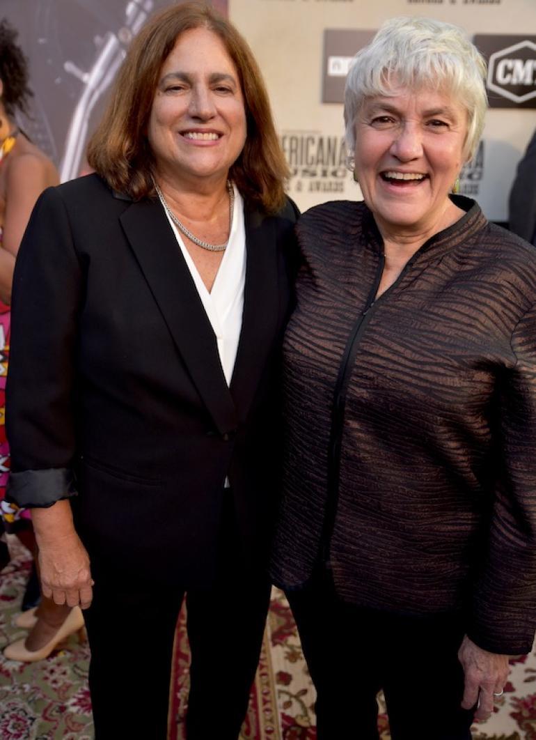 Judy Dlugacz and Cris Williamson on the Red Carpet, AmericanaFest 2018