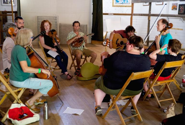 Culture Camp Improvisation Workshop led by Hank Roberts