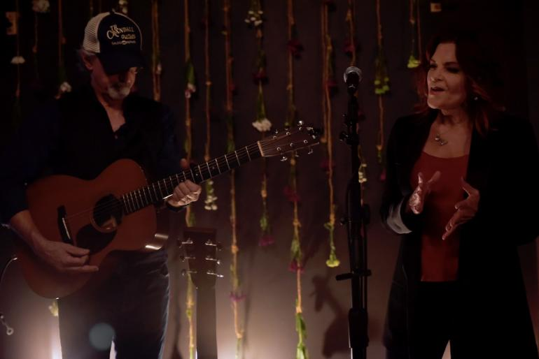 Rosanne Cash and John Leventhal at the Luck Mansion, AmericanaFest 2018