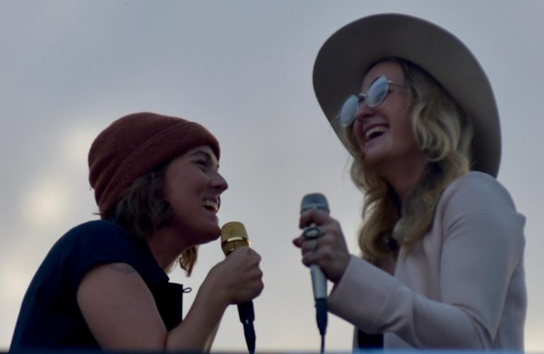 Margo Price and Brandi Carlile on Third Man Records' Rooftop, AmericanaFest 2018