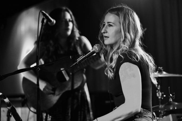 Margo Price and Cary Ann Hearst at AmericanaFest 2016