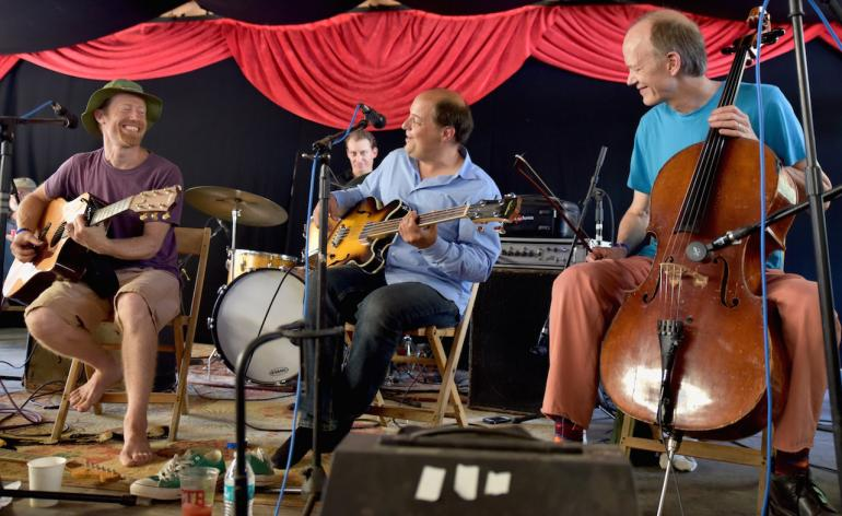 Sim Redmond, Jeb Puryear and Hank Roberts, Finger Lakes GrassRoots Festival