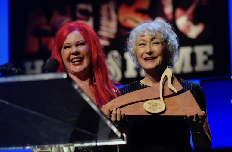 Ann Maguson and Kate Pierson (B52s), West Virginia Music Hall of Fame 2018