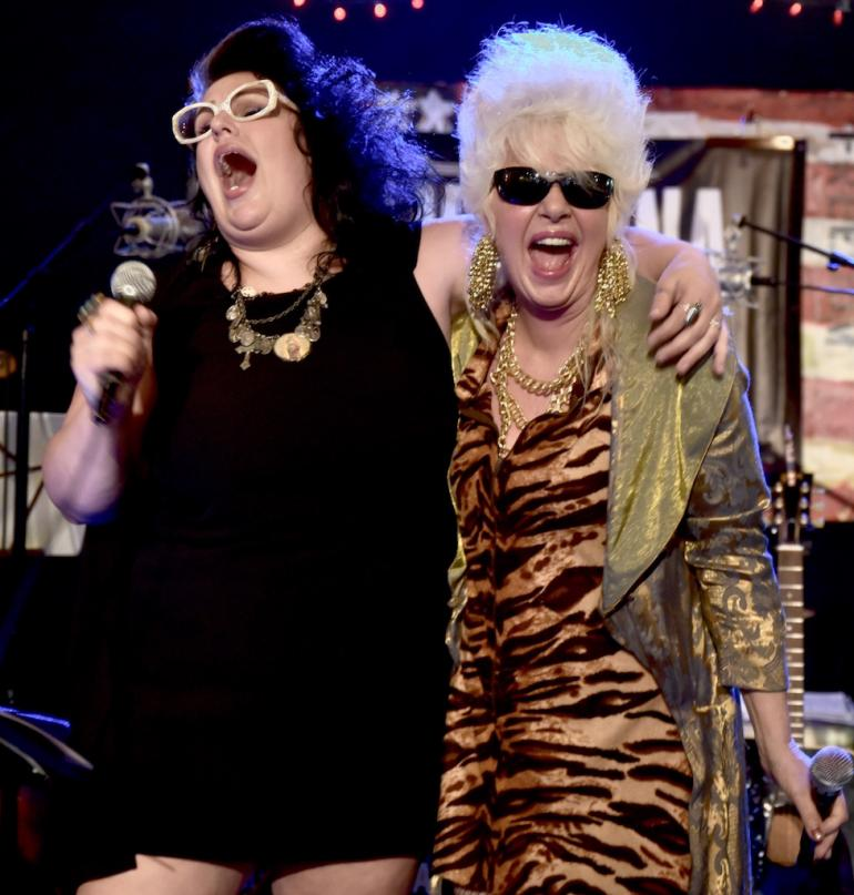 Sarah Potenza and Christine Ohlman at AmericanaFest 2016