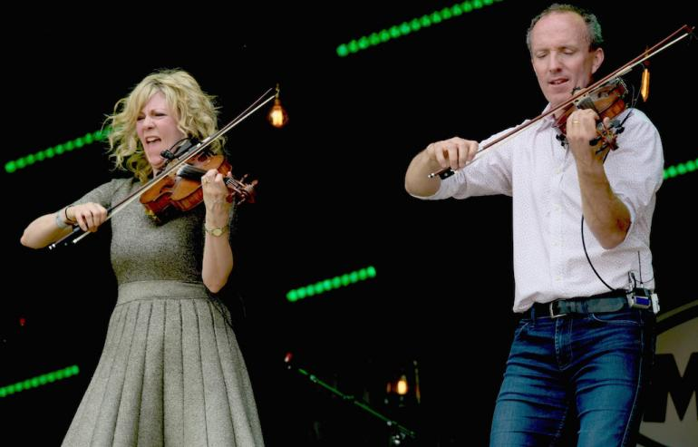 Natalie McMaster and Donnell Leahy at MerleFest 2017