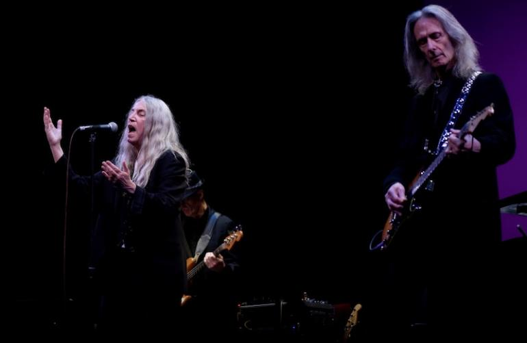 Patti Smith and Lenny Kaye,  West Virginia Music Hall of Fame 2018