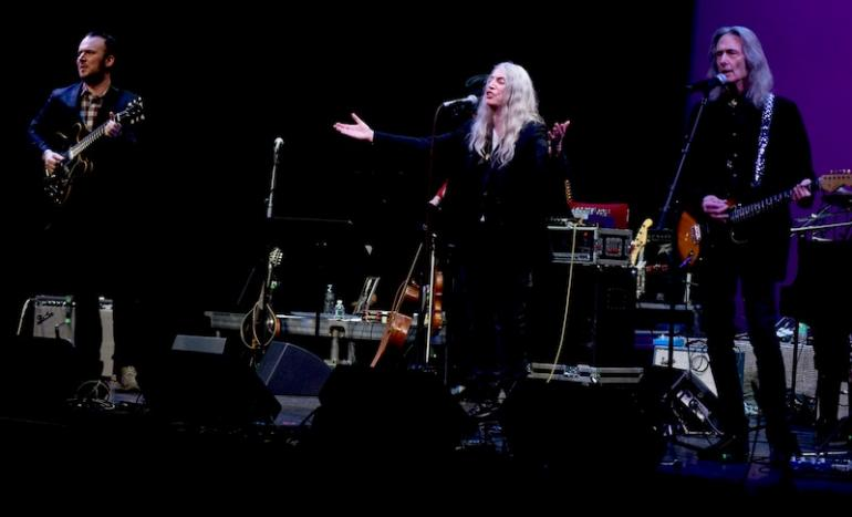Patti Smith, Jackson Smith and Lenny Kaye, West Virginia Music Hall of Fame 2018