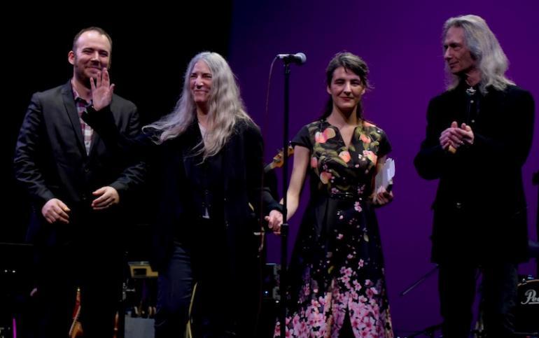 Patti, Jackson & Jesse Paris Smith and Lenny Kaye, West Virginia Music Hall of Fame 2018