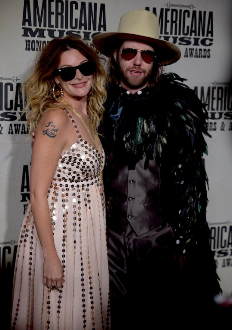 Elizabeth Cook and Aaron Lee Tasjan, the AMA Red Carpet, AmericanaFest 2017