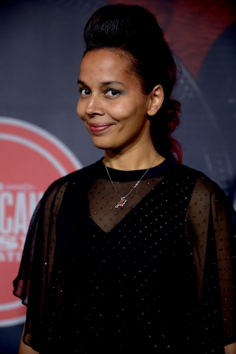 Rhiannon Giddens, the AMA Red Carpet, AmericanaFest 2017