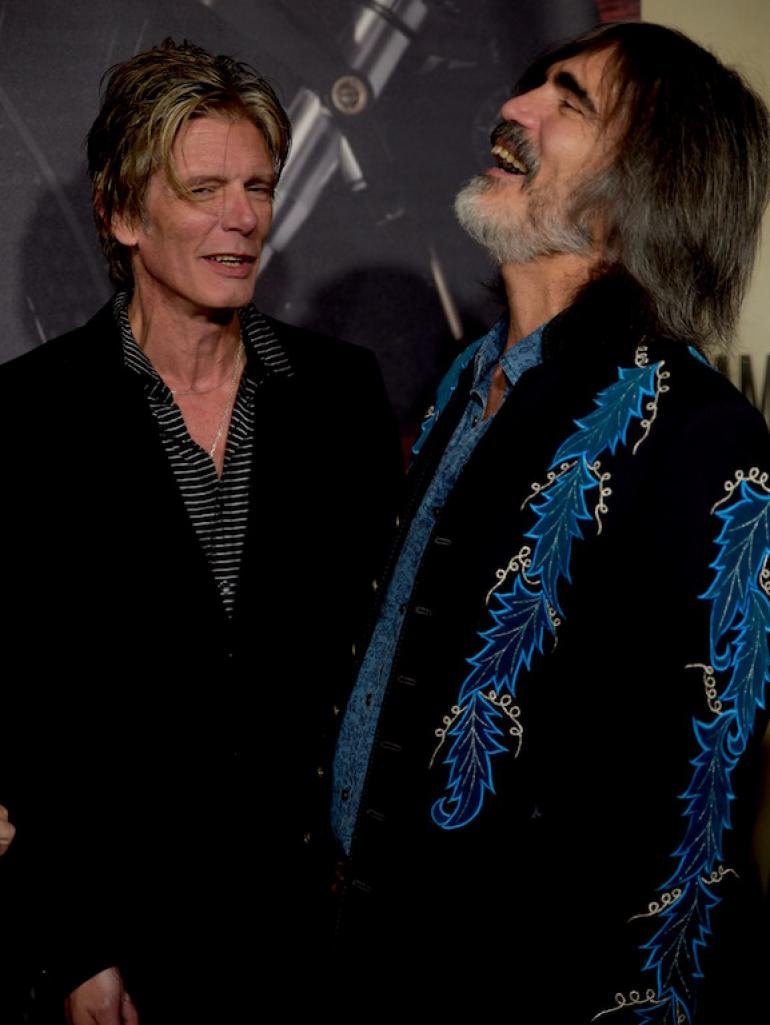 Charlie Sexton and Larry Campbell, the AMA Red Carpet, AmericanaFest 2017