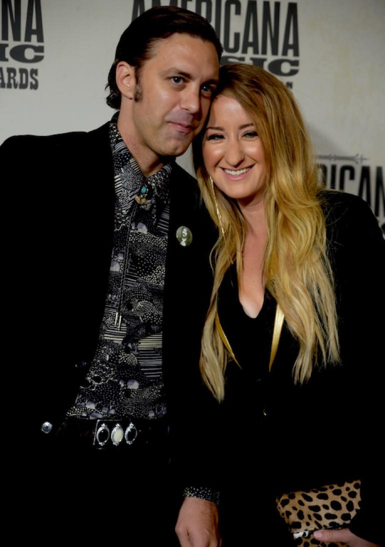 Margo Price and Jeremy Ivey, the AMA Red Carpet, AmericanaFest 2017