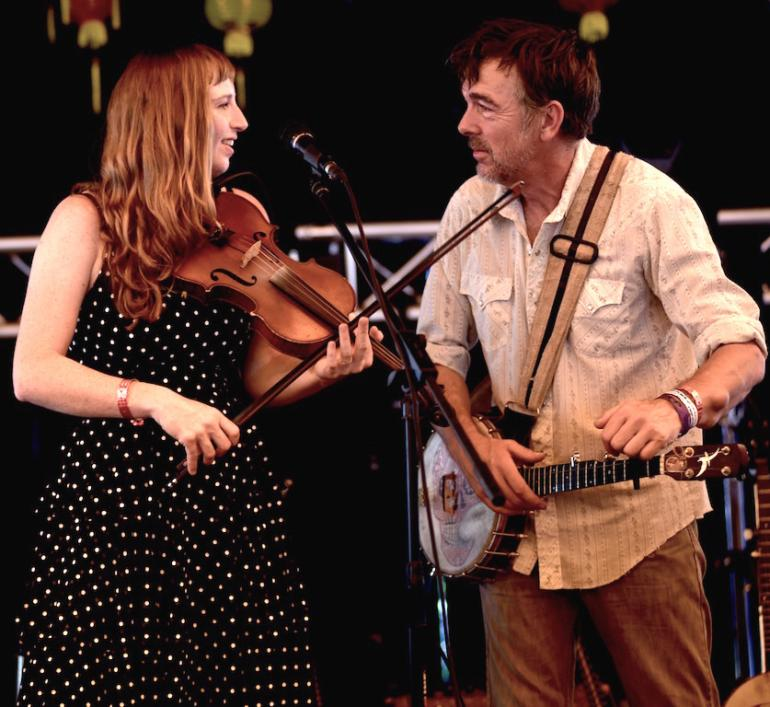 Richie Stearns and Rosie Newton, Finger Lakes GrassRoots Festival 2017