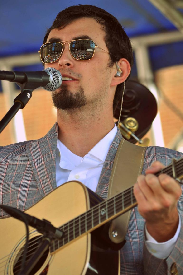 Buddy Robertson of Flatt Lonesome at IBMA Wide Open Bluegrass 2016