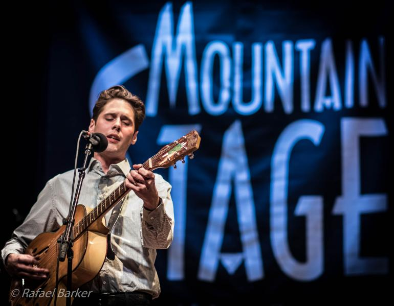 Jack Torrey of The Cactus Blossoms performs on Mountain Stage in December of 2015
