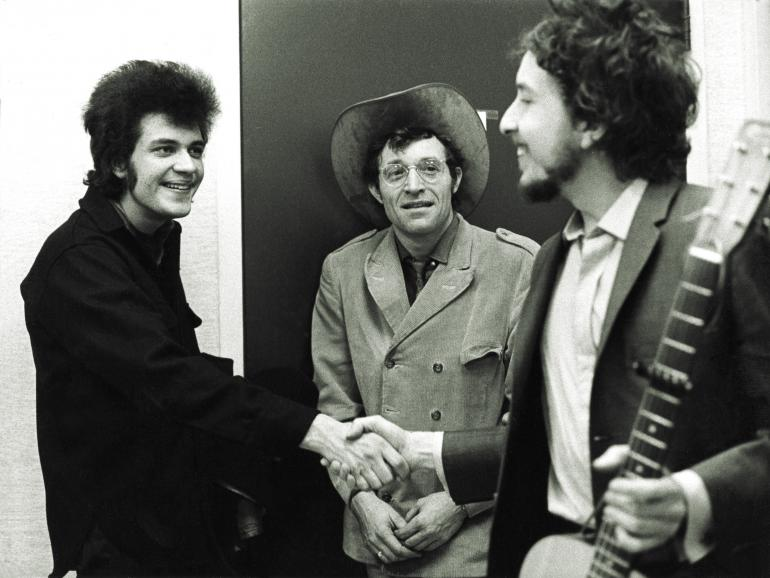 Bob Dylan, Ramblin' Jack Elliott and Michael Bloomfield, Woody Guthrie Tribute, 1968