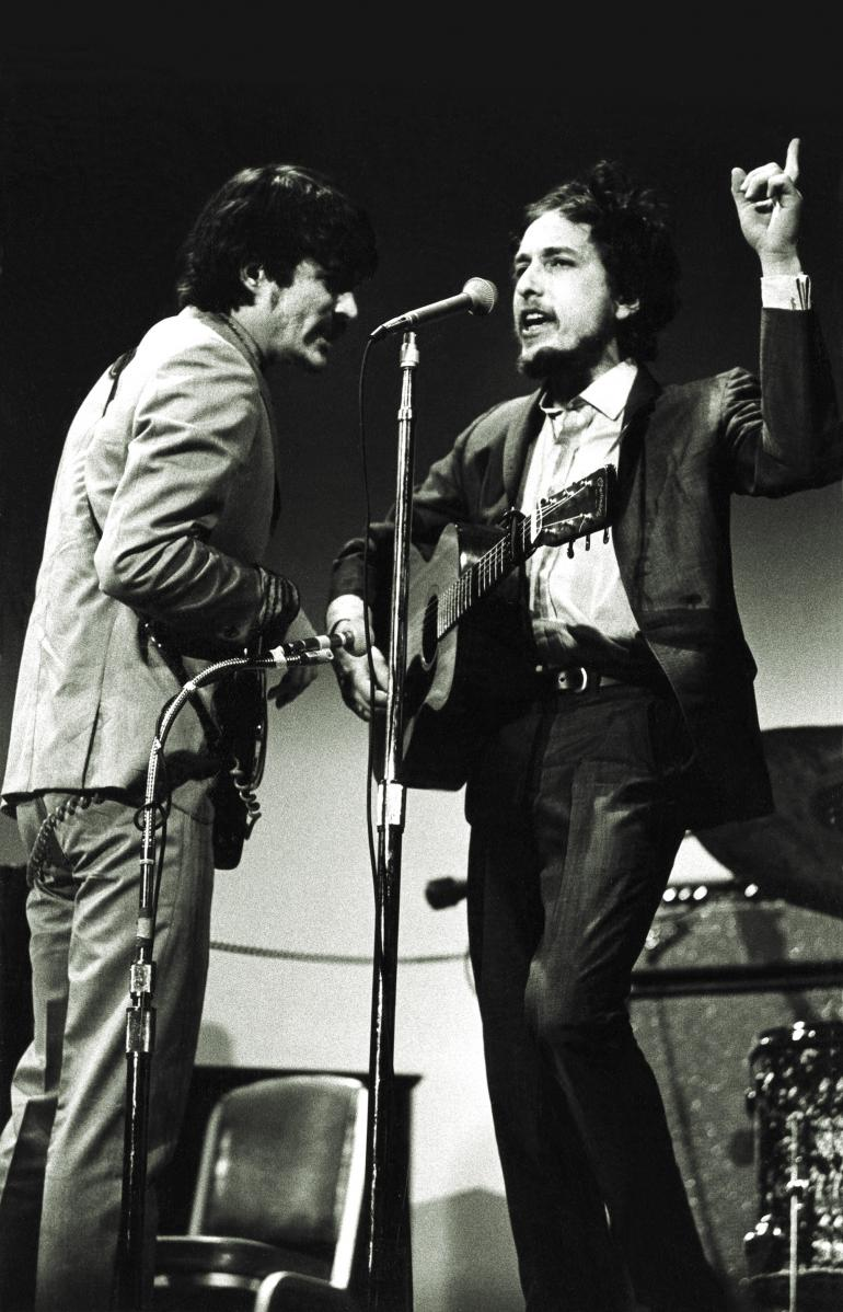 Bob Dylan and Rick Danko, Woody Guthrie Tribute, 1968