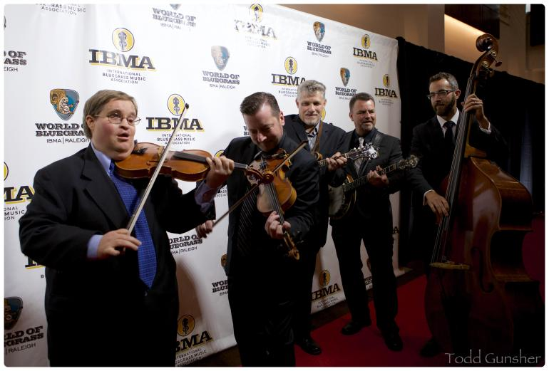 Michael Cleveland and friends on the IBMA Red Carpet