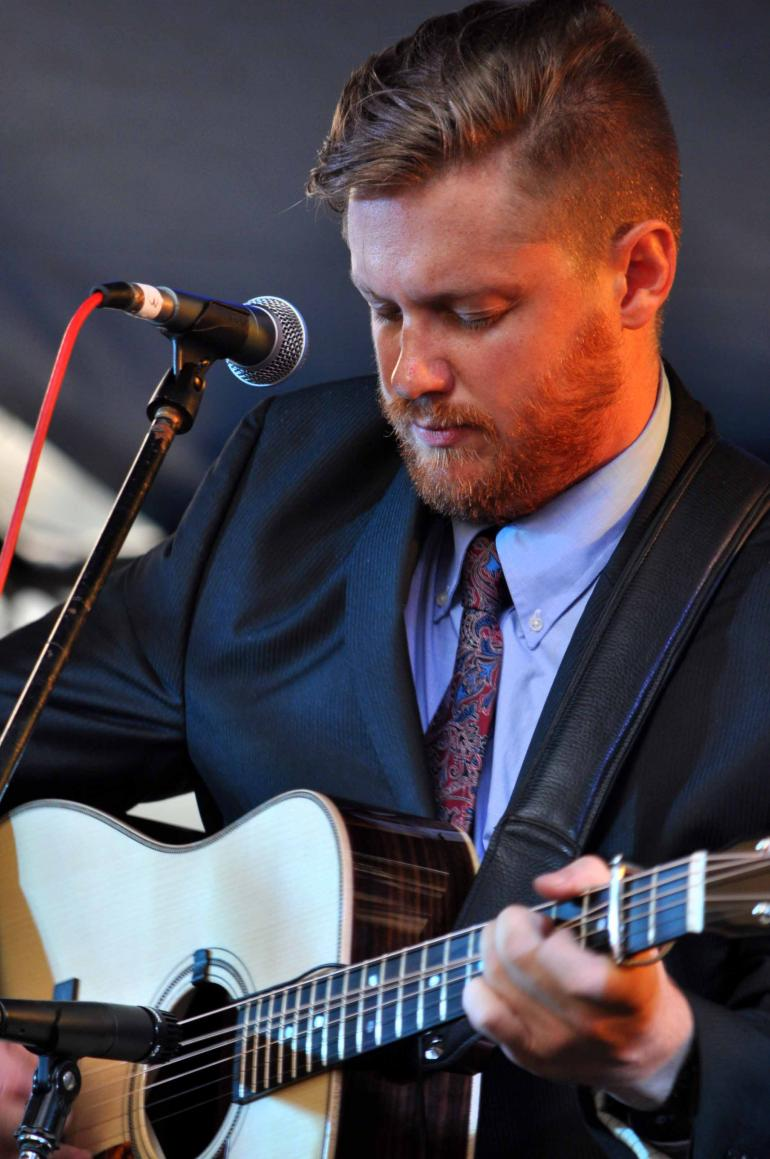 Colby Laney of Volume Five at IBMA Wide Open Bluegrass 2016