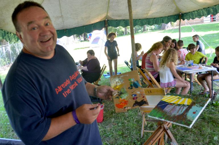 Painter, Culture Camp, Finger Lakes GrassRoots Festival 2017