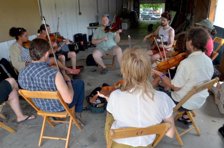 Cajun Fiddle Workshop led by Courtney Granger, Finger Lakes GrassRoots Festival 2017